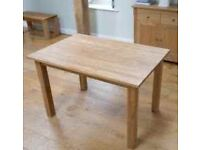 Oak affect dining table with 4 chairs