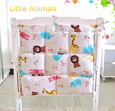 Little Animals Baby cot storage organiser/Nursery pouch bag/Diaper storage bag