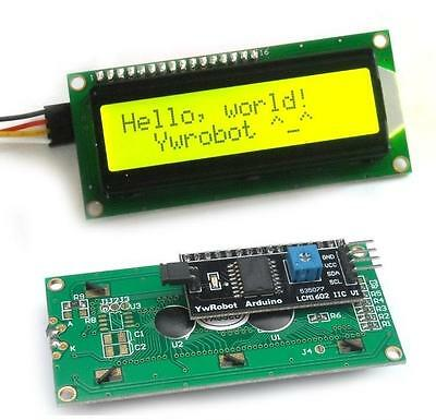 Iici2ctwispi Serial Interface1602 16x2 Character Lcd Module Display Yellow