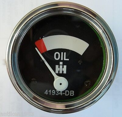 Ih Farmall Oil Pressure Gauge Fits Super H Hv M Mv Mta W4 W6 W6taw9