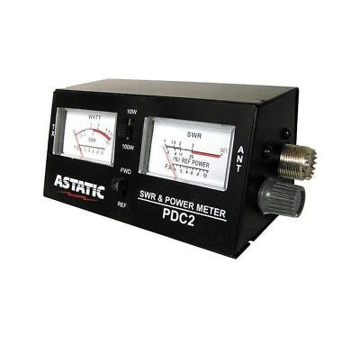 ASTATIC PDC2 COMPACT SWR/RF/STRENGTH METER WITH 3 FT. JUMPER
