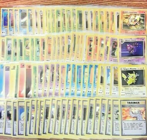 GYM HEROES Pokemon Cards You Pick & Choose Your Card NM LP MP Finish your set