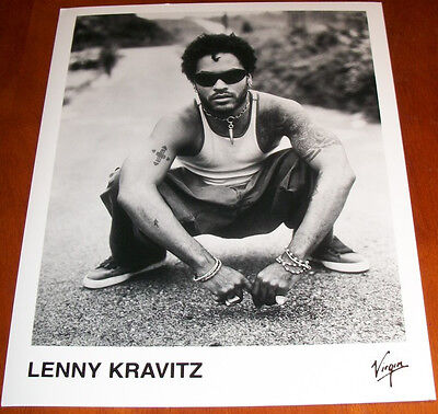 Lenny Kravitz 8x10 B&W Press Photo Virgin Records