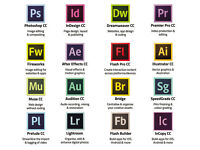 ADOBE PHOTOSHOP, INDESIGN, ILLUSTRATOR CC 2017,etc... PC/MAC