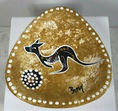 Vintage Kangaroo Trinket Dish Hand Painted - Australia