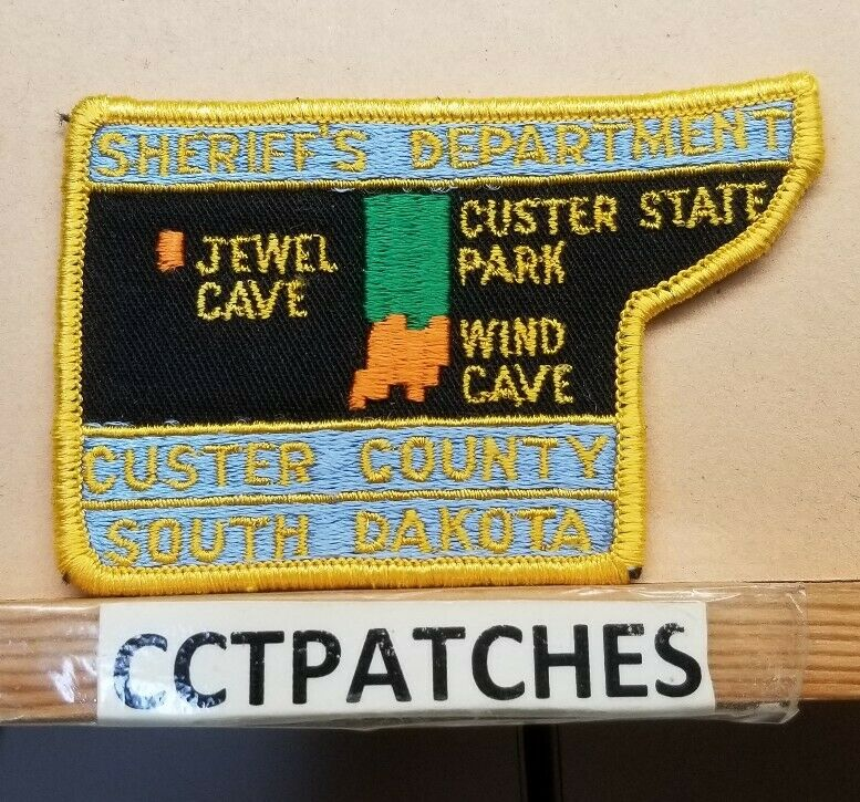 CUSTER COUNTY, SOUTH DAKOTA SHERIFF STATE PARK (POLICE) SHOULDER PATCH SD