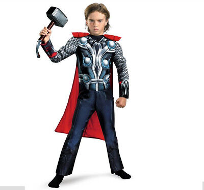 Kids birthday The Avengers Thor Classic Muscle Children boys Costume cosplay