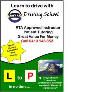 Westmead -  Driving Instructor - Driving School - Driving Lesson Westmead Parramatta Area Preview