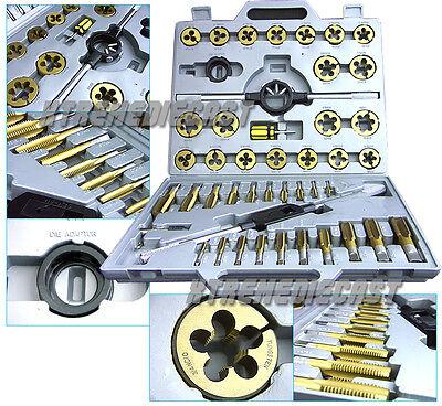 45 Pc Tap & Die Set Standard SAE Titanium Tungsten Steel Jumbo Thread Renew Tool