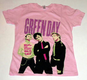 GREEN DAY LADIES T-SHIRTS/TOPS, (DIFFERENT DESIGNS AND SIZES)