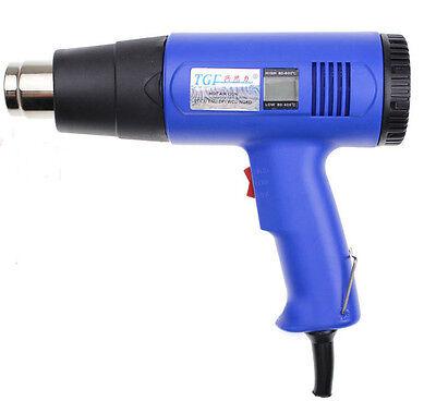 1600w 60HZ Hot Air Blow Gun AC220V Electronic Digital Thermostat Foil Tools 1pc