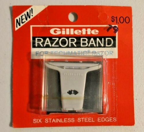 Gillette Techmatic Razor Band Blades Stainless Steel Edges Cartridges --  845