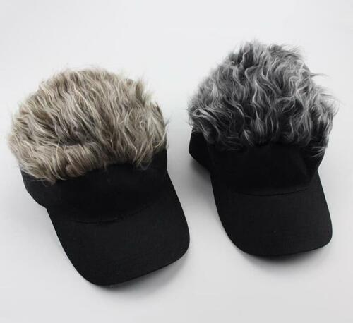 Unisex Adult Men Women Faux Hair Headband Beanie Hat Cosplay Costume Party Cap