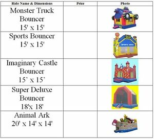 Used Bouncy Castle, Inflatable Bouncer 4 Sale KItchener-Waterloo Kitchener / Waterloo Kitchener Area image 3