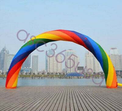26X10 Ft Inflatable Rainbow Advertising Promotion Arch Door without Air Blower