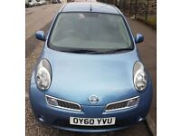 CHEAP CAR 2010 Nissan Micra Petrol, YEAR MOT, 56K LOW MILEAGE, FSH, HPI CLEAR, 2 OWNER. BMW AUDI.