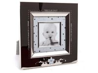 Silver baby boy photo frame