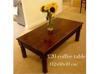 Dark wooden coffee table