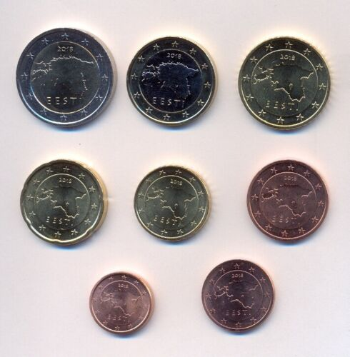 Estonia 2018 full euro coins set (8 coins)  UNCIRCULATED