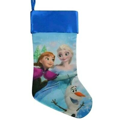 Disney Princess Frozen Elsa, Anna, and Olaf Christmas Holiday Satin Stocking 18