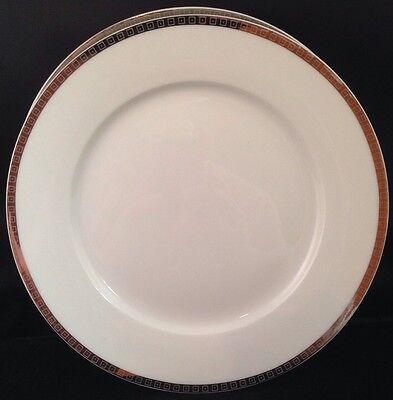 Gibson Platinum Plates - GIBSON CHINA SALAD BREAD PLATES GABBAY BRILLIANT PLATINUM RIMMED  SET OF 3