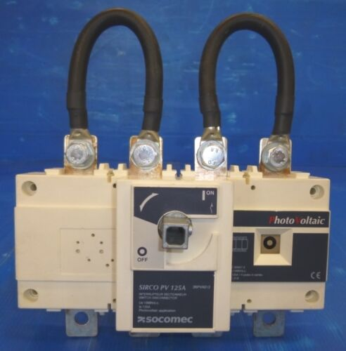 Socomec Sirco PV 125A Photovoltaic Load Break Switch Switch Disconnector New