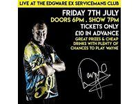 Darts- Wayne Mardle Exhibition Tickets. Friday 7th July