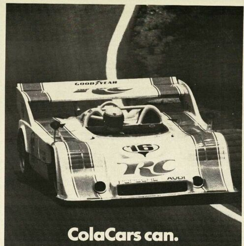 1973 CHAMPION spark plugs CAN AM Champion George Follmer RC Cola Vintage Ad