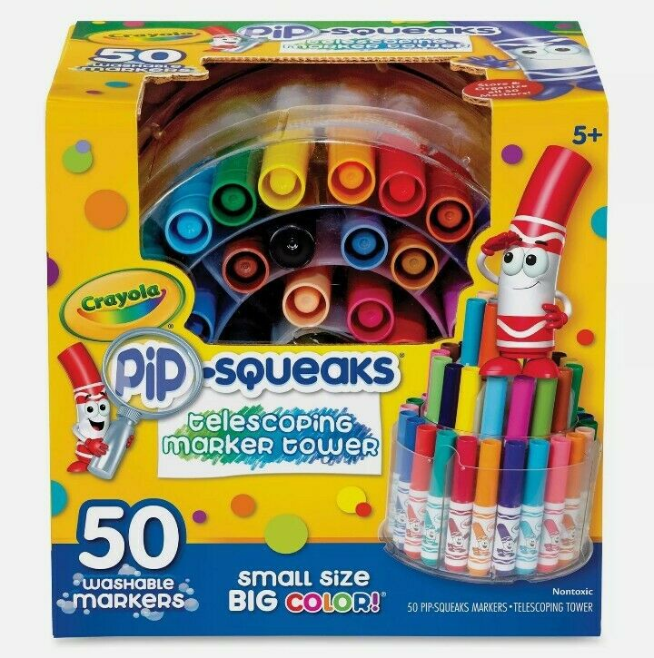 Crayola 50ct. Pip-Squeaks Telescoping Marker Tower brand new