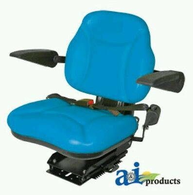 Big Boy Seat Blue With Arm Rests For Ford Tractor New Holland
