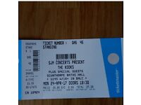 The Kooks- Scunthorpe x2 Concert Tickets