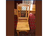 Jali dining table with 6 chairs