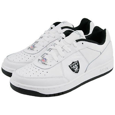 Oakland Raiders Shoes - NFL Reebok White Recline - Mens Size 6,5, used for sale  Lakeland