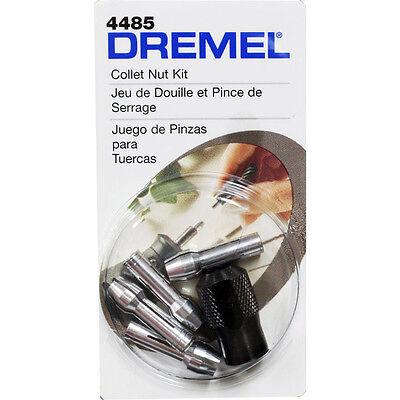 Dremel 4485 Collet Nut Kit & Collets 4485 0.8, 1.6, 2.4, 3.2MM 5pc Set