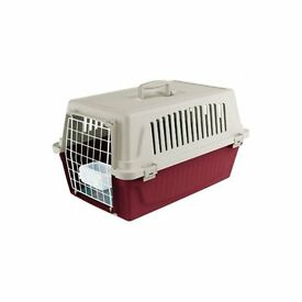 Cat/Small Dog Carrier - 1X BLUE / 1X RED / 1X GREY - With water trough and mattress - BRAND NEW