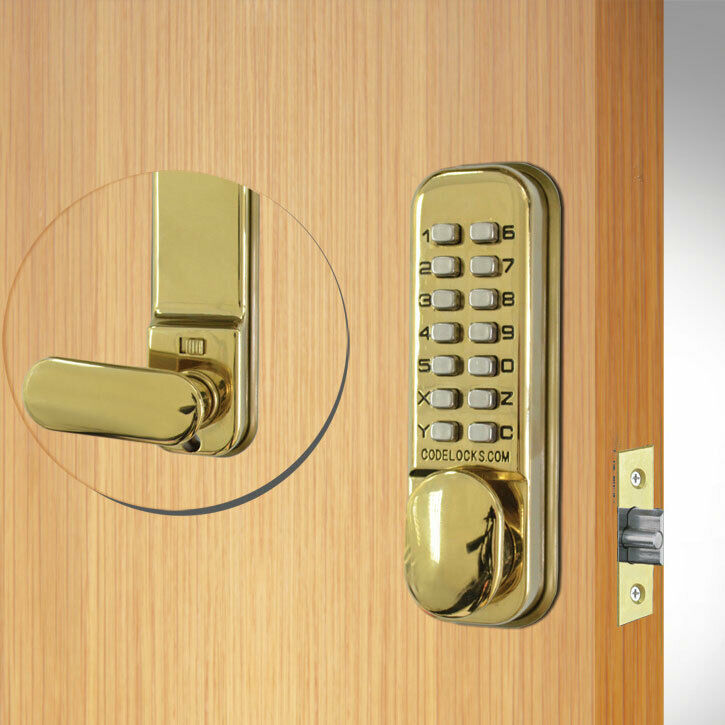 Codelocks CL155 Mortice Latch Brass  (CL155-PB)