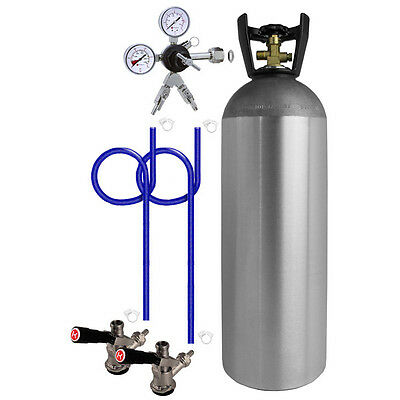 Kegco 2 Keg Direct Draw Kit For Kegerators And Jockey Boxes With 20 Lb. Co2 Tank