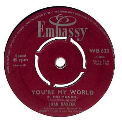 "Joan Baxter - You're My World (Il Mio Mondo)  - 7"" Record Single"