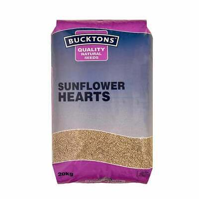 Bucktons Sunflower Hearts 20kg Quality Natural Wild Bird Garden Food Feeder