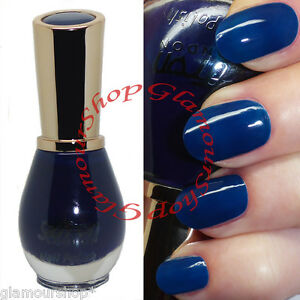 Glossy Dark ROYAL BLUE Nail Polish Varnish by Saffron London #53 Ocean Queen