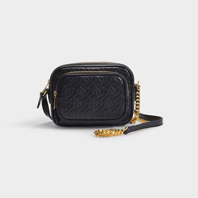 100% Genuine Burberry TB Monogram Leather Camera Bag RRP£790