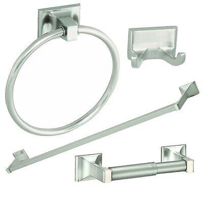 4 Piece Bathroom Hardware Bath Accessory Set – Satin Nickel Bath