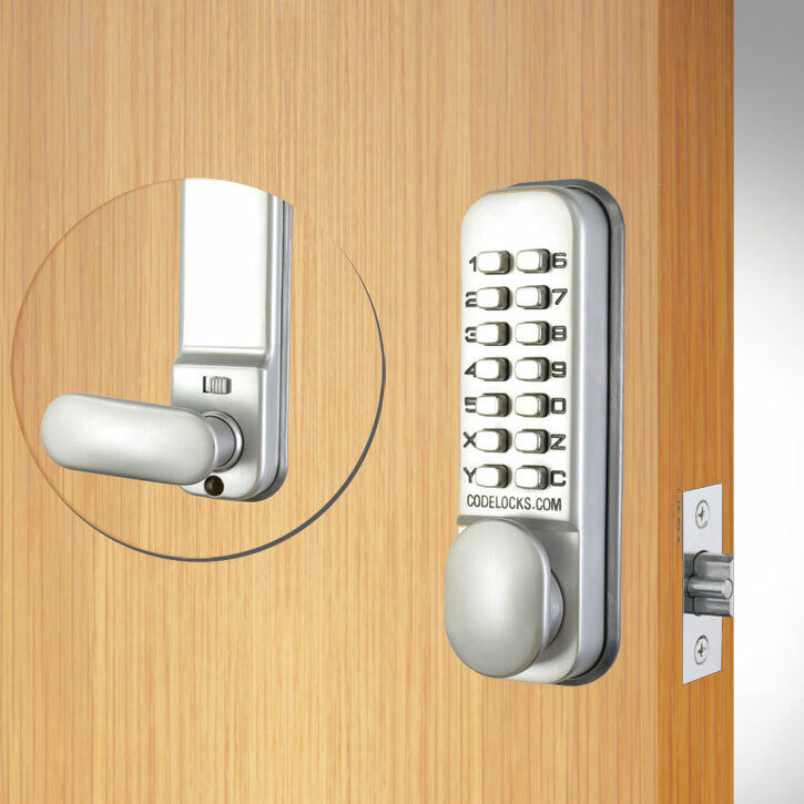 Codelocks CL155 Mortice Latch Silver (CL155-SG)