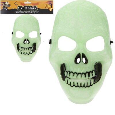 Adult Halloween Spooky Scary Glow In The Dark Skeleton Mask Fancy Dress Costume](Halloween Spooky Scary Skeletons)
