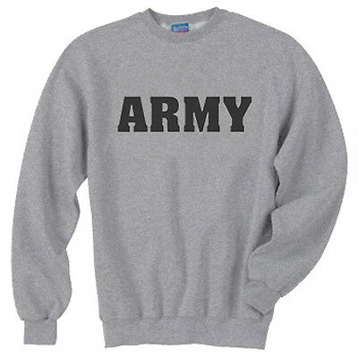 Military Crew Sweatshirt - United States Army Military JERZEES Crew Neck Sweatshirt SM To 4XL THE BEST