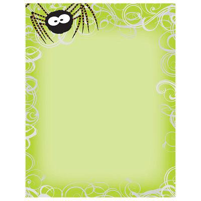 Halloween Computer Paper (Green Spider Swirls Halloween Computer Printer Paper (80 Sheets))