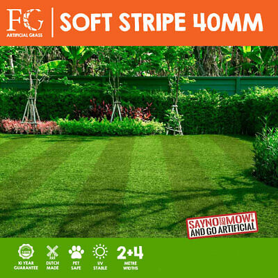 40mm Striped Artificial Grass Astro Turf Fake Lawn - FREE Delivery - Fylde Grass