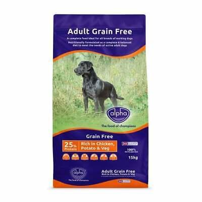 Alpha Grain Free Chicken Dry Dog Food - 15kg