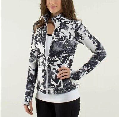 Rare Lululemon Black White Brisk Bloom Floral FORME Define Full Zip Jacket 2