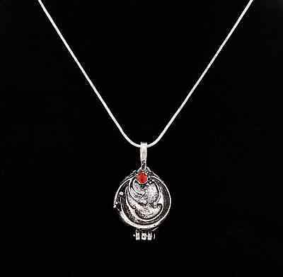 The Vampire Diaries Elena Vervain Antique Silver Pendant Locket Necklace